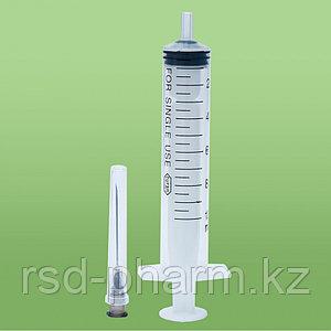 Шприц инъекционный 10 граммовый, 22G 1, 1/4, 0,70*32 mm, п/эт