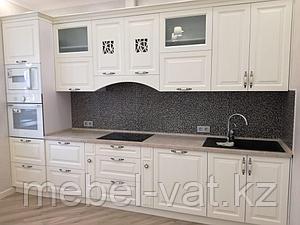 Кухонный гарнитур, белый, прямой, 3,6 м