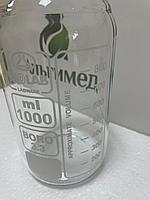 Бутыль ISO, стеклянный, прозрачный, 1000 мл, Isolab