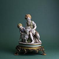 Дети с ягненком Автор Benacchio Фарфоровая мануфактура Triade / Capodimonte