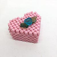 Шкатулка сердечки из бисера. Сувениры