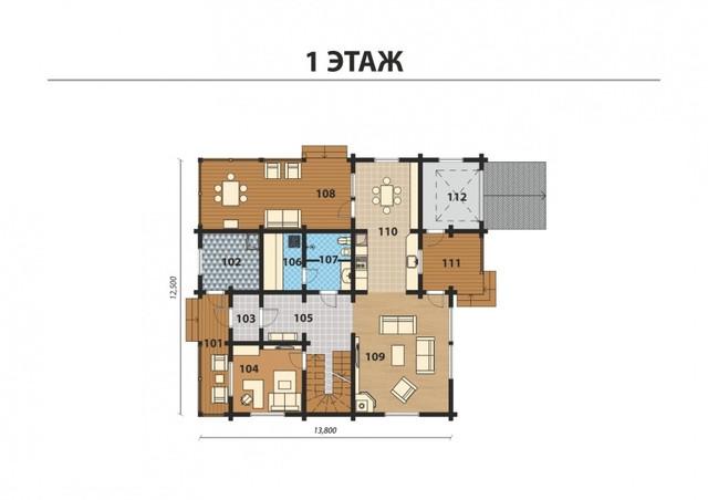 Проект двухэтажного дома из бруса с двумя террасами, план двухэтажного дома и строительство под ключ, проектирование и строительство деревянных домов.