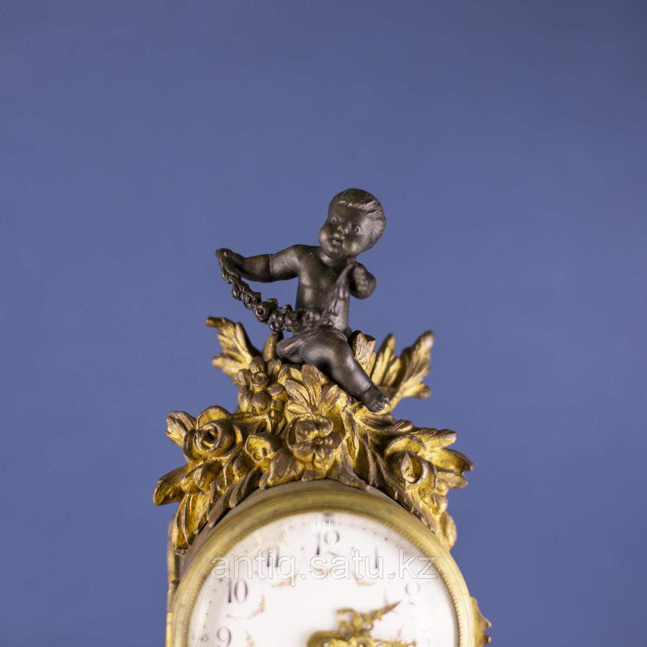 Кабинетный часовой гарнитур в стиле Людовика XVI Франция. II половина XIX века - фото 4