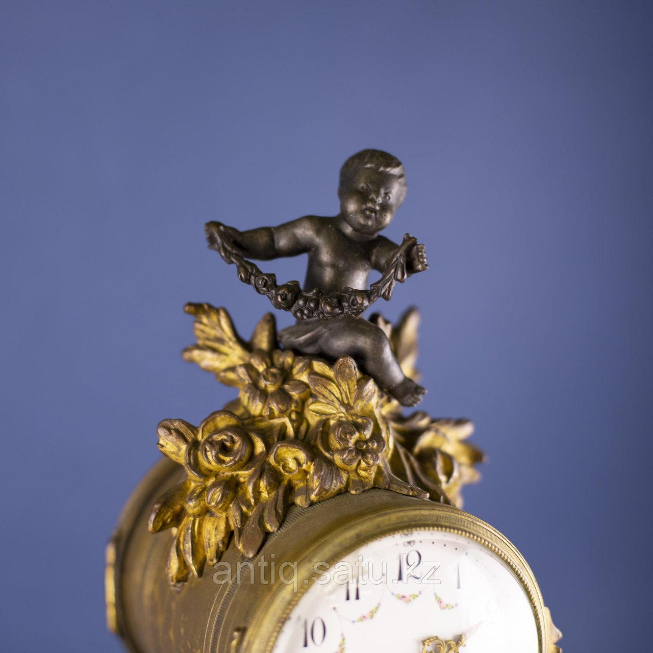Кабинетный часовой гарнитур в стиле Людовика XVI Франция. II половина XIX века - фото 5