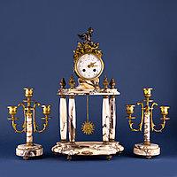 Кабинетный часовой гарнитур в стиле Людовика XVI Франция. II половина XIX века
