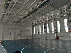 2020 год. ADRIAN Group. ФОК в с.Альжан Жамбылской обл. Объём здания : 12 400 м3 . Оборудование : Газовые воздушные теплогенераторы ADRIAN Air MID 2060B -1 ед., ADRIAN Air MID 2190B -1 ед.