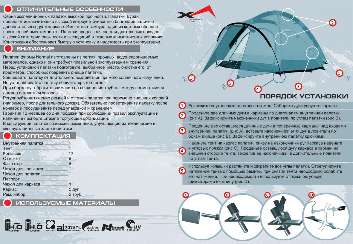 Палатка NORMAL мод. Буран 4N - фото 3