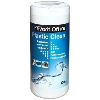 "Влажные салфетки для пластика F230007 ""FAVORIT OFFICE"" Plastik Clean, туба 100 салфеток /"