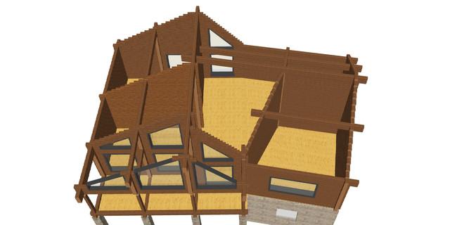 Проект двухэтажного дома из бруса для большой семьи, план двухэтажного дома и строительство под ключ, проектирование и строительство деревянных домов.