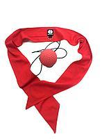 Мяч для бокса универсальный (с повязкой), красный