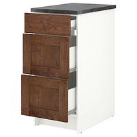 Напольный шкаф с ящиками, КНОКСХУЛЬТ, под коричневый мореный ясень 40 см ИКЕА, IKEA