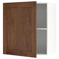 Навесной шкаф с дверцей, КНОКСХУЛЬТ под коричневый мореный ясень60x75 см ИКЕА, IKEA