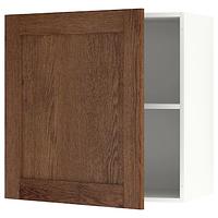 Навесной шкаф с дверцей, КНОКСХУЛЬТ под коричневый мореный ясень 60x60 см.ИКЕА, IKEA