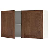 Навесной шкаф с дверцей, КНОКСХУЛЬТ под коричневый мореный ясень 60x75 см ИКЕА, IKEA