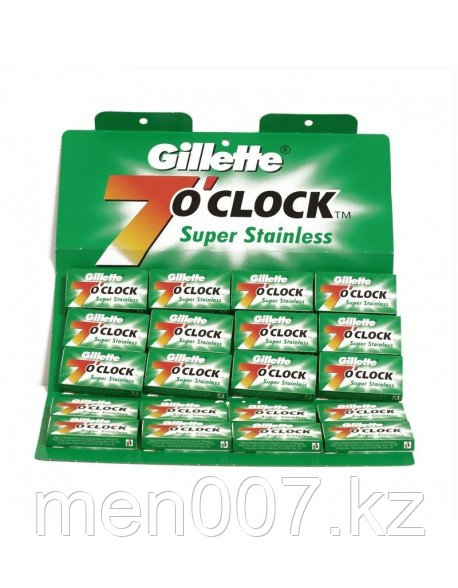 Gillette 7 O'Clock Superior Stainless (лезвия 100 штук)