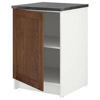 Напольный шкаф с дверью, КНОКСХУЛЬТ под коричневый мореный ясень 60 см ИКЕА, IKEA