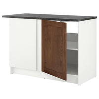 Напольный шкаф с дверцами и ящиком, КНОКСХУЛЬТ , под коричневый мореный ясень180 смИКЕА, IKEA