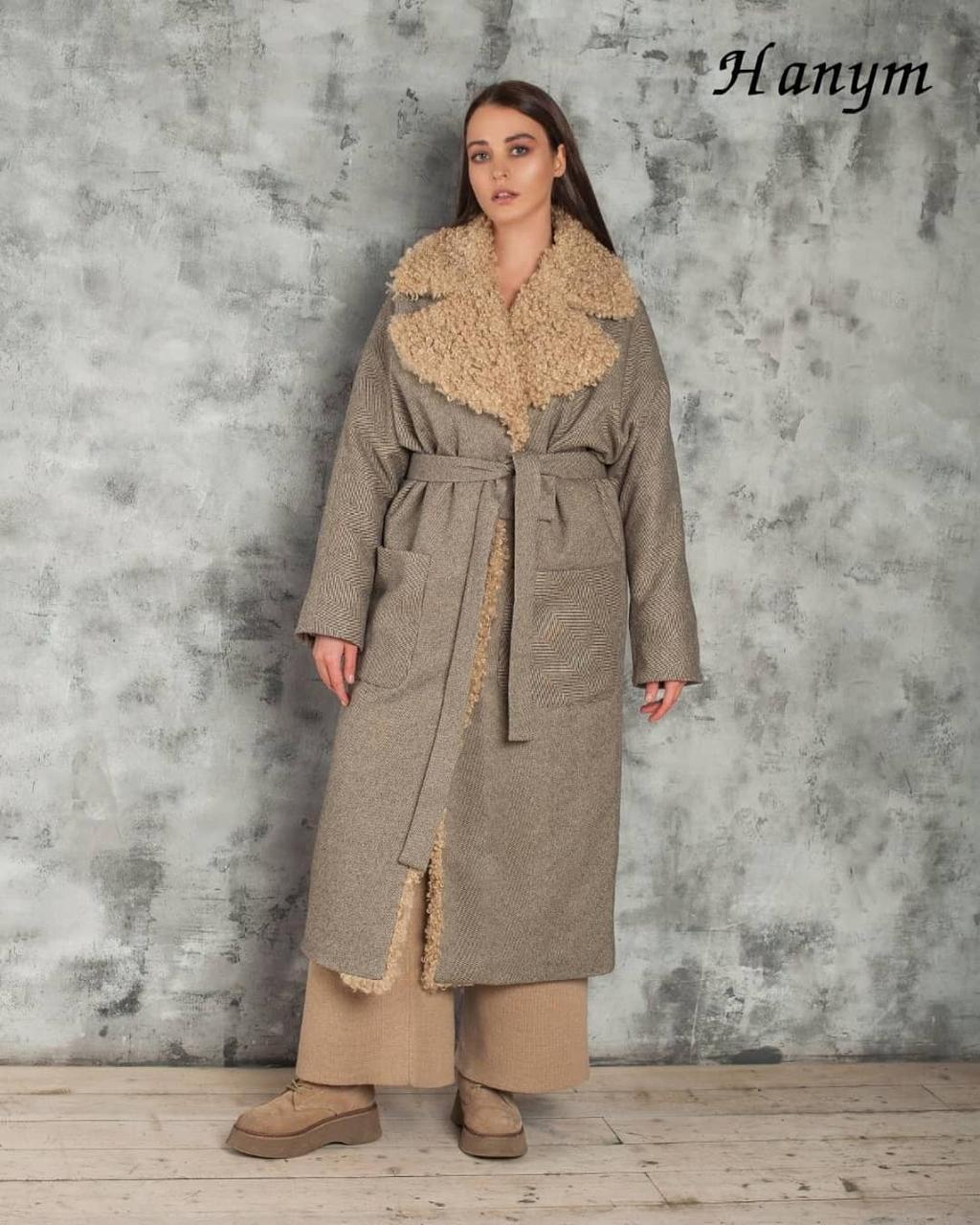 Женское пальто Италия (экомех) - фото 1