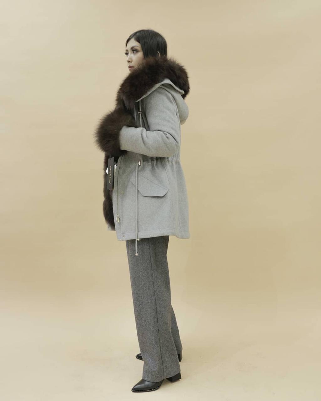 Женская пальто-парка (куница) - фото 2