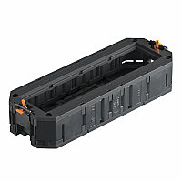 Монтажная коробка UT4 для установки в лючок с накладкой для 4xModul45 (полиамид, черный). Тип: UT4 45 4. Бренд