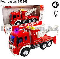 Пожарная машина с автокраном с звуковым и световым сопровождением 1:16 City service SY754C-X08