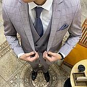 Мужской костюм тройка (80% шерсть, 20% вискоза)