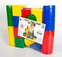 Строительный набор, 15 элементов Десятое королевство, цвет разноцветный, размер 410x330x90 мм