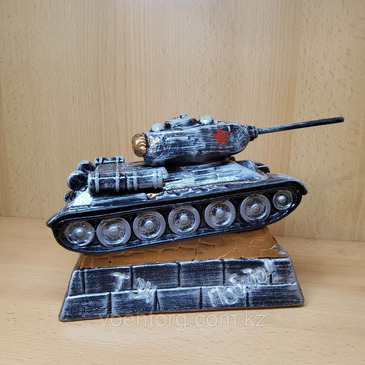 Копилка Танк Т-34, серая