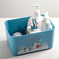 """Ящик для хранения """"Christmas"""", 2,4л, цвет васильковый"""