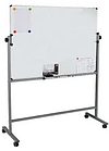 Доска магнитно-маркерная DELI 90 х 120 см, подставка 4 колеса