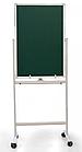 Доска магнитно-маркерная и магнитно-меловая DELI 60 х 90 см, подставка 4 колеса