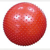 Массажный гимнастический мяч / фитбол / цвет красный / размер 75 см