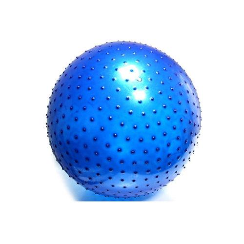Массажный гимнастический мяч / фитбол / цвет синий / размер 75 см