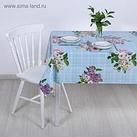 Клеёнка столовая на тканой основе «Ромашки и сирень», 1,25×20 м