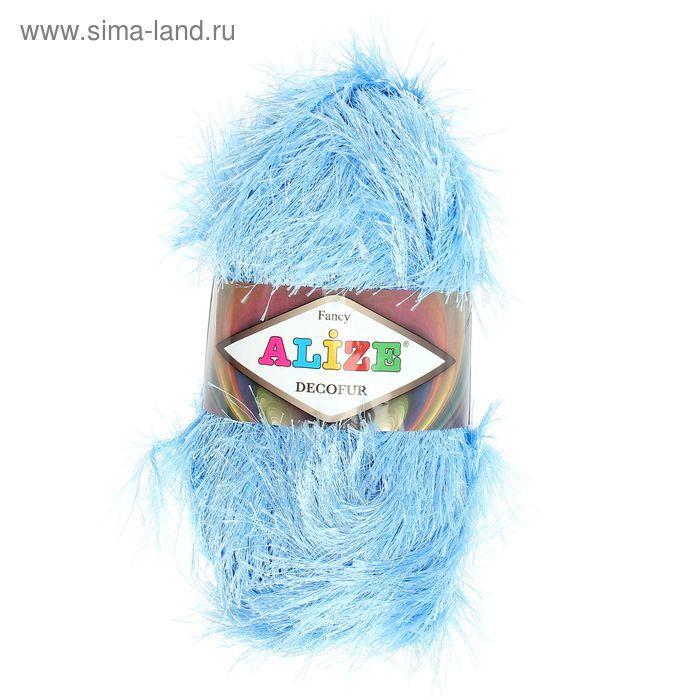 """Пряжа """"Decofur"""" 100% полиэстер 110м/100гр (40 голубой) - фото 2"""