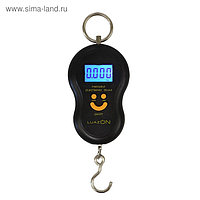 Весы-безмен LuazON LV-402, электронный, до 50 кг, точность до 10 г, подсветка, МИКС