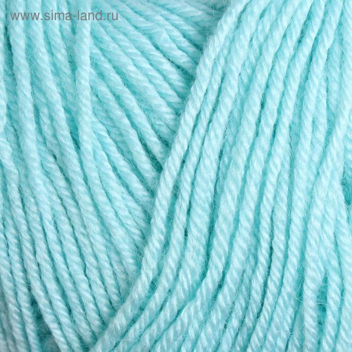 """Пряжа """"Baby Wool"""" 40% шерсть, 40% акрил, 20% бамбук 175м/50гр (19 водяная зелень) - фото 1"""