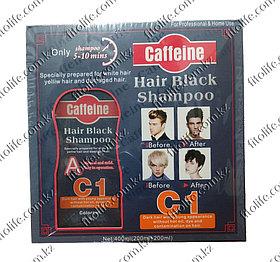 Шампунь-краска с кофеином для закрашивания седых волос