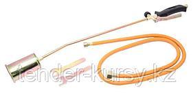 ROCKFORCE Горелка газовая кровельная с регулятором, клапаном и гибким шлангом (сопло 60мм, L-740мм, L