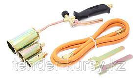 Forsage Горелка газовая с насадками и гибким шлангом (насадки-25,35,50мм; L-390мм; L шланга-1.5м) в блистере