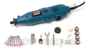 Forsage Гравер электрический ручной с набором аксессуаров(135W, 220V, 10000-32000об/мин, цанга 2.3, 3.2мм), в