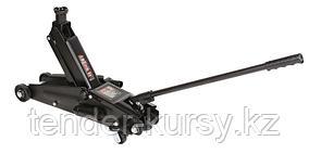 ROCKFORCE Домкрат подкатной гидравлический с механизмом быстрого подъема и сменной надставкой 3т (h min 150мм,