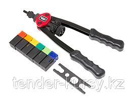 Forsage Заклепочник двуручный резьбовой усиленный (L - 320мм, резьбовые адаптеры - М3, М4, М5, М6, М8, М10)