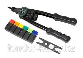 ROCKFORCE Заклепочник двуручный резьбовой усиленный (L - 320мм, резьбовые адаптеры - М3, М4, М5, М6, М8, М10)