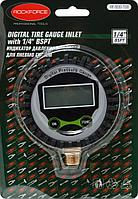 """ROCKFORCE Индикатор давления цифровой для пневмосистем 1/4""""(Psi, Kpa, Bar, Kgf/cm2), в блистере ROCKFORCE"""