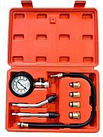 Forsage Индикатор компрессии бензинового двигателя Profi 8 предметов(0-21Bar, М10, М12, М14, М18 + 2 жестких
