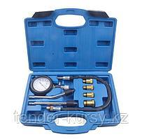 ROCKFORCE Индикатор компрессии бензинового двигателя Profi 8 предметов(0-21Bar, М10, М12, М14, М18 + 2 жестких
