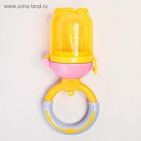 Ниблер для прикорма «Персик», с силиконовой сеточкой, цвет жёлтый