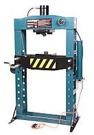 Forsage Пресс гидравлический с манометром напольный 75т, ручной/пневмо привод (раб. высота:0-1100мм, раб.