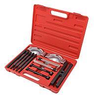 Forsage Набор съемников комбинированный (сегментного типа: 50-75мм; двухлапый: 40-115мм) 14 предметов, в кейсе